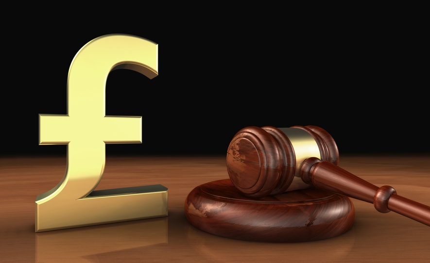 Uk Pound Sterling And Law Symbol Cost Of Justice Concept Landlord News
