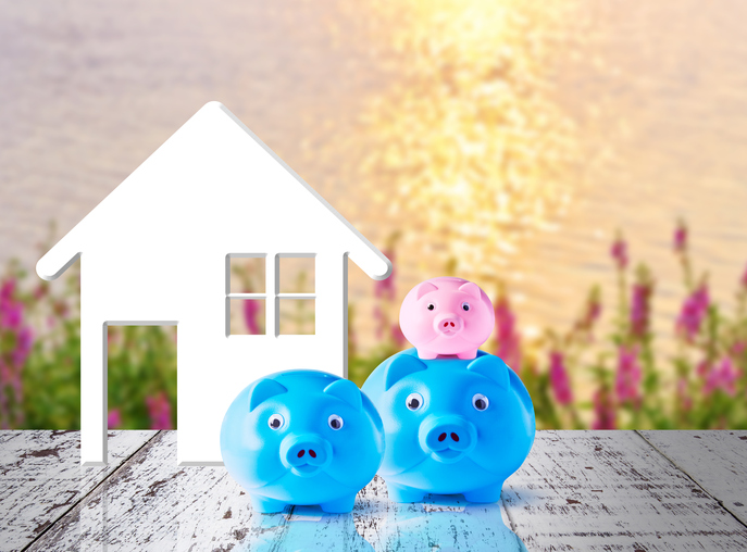 Business concept of saving for family