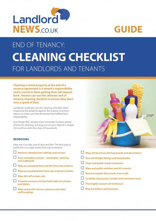 Cleaning Checklist Picture