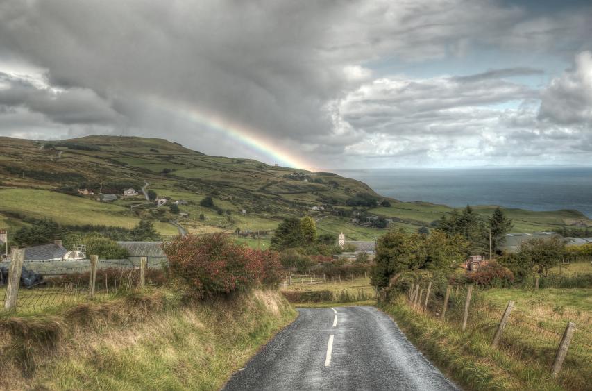 Coastal Causeway rainbow, Northern Ireland
