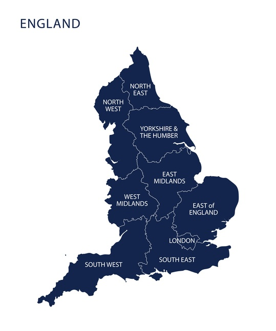 Map Of South East England Counties.Map Of England With Counties Uk Landlord News