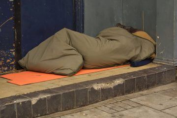 rough sleeping in London